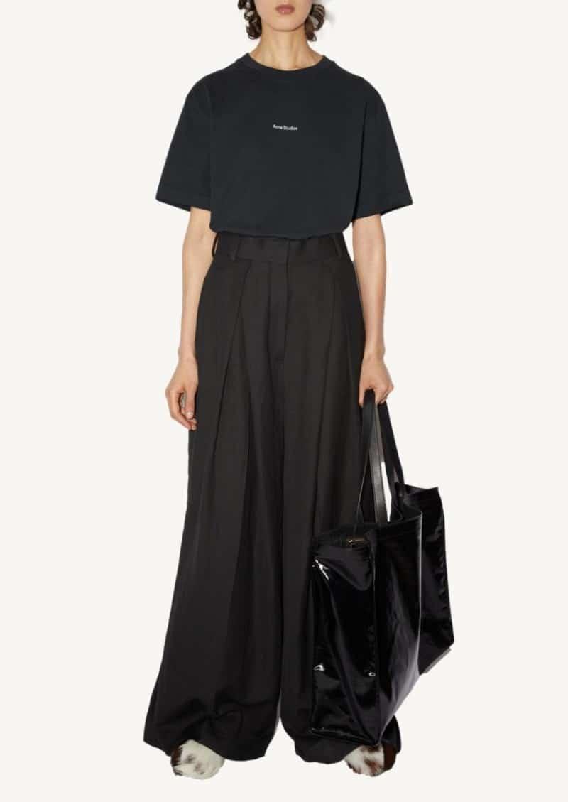 Pantalon à coupe ample noir