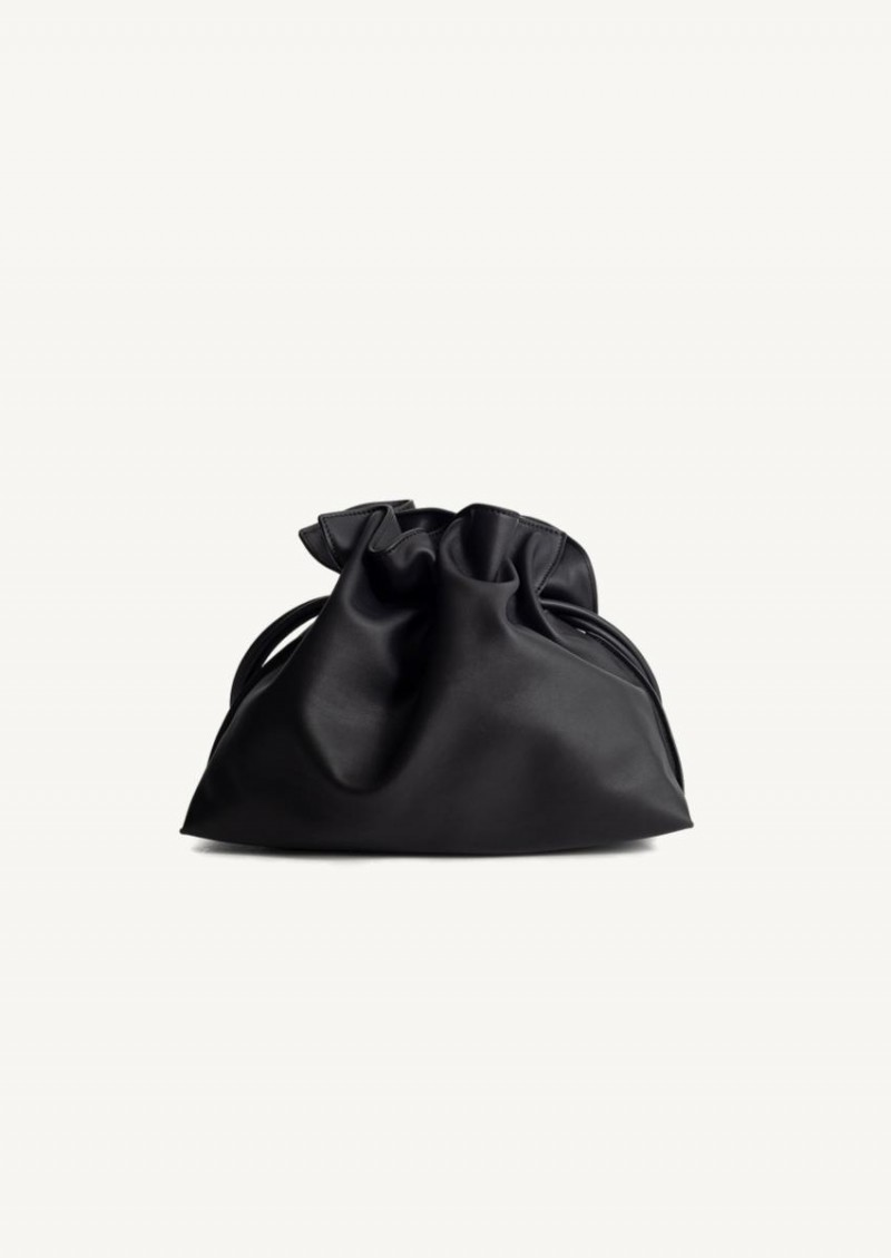 Black Flamenco pouch in nappa calfskin
