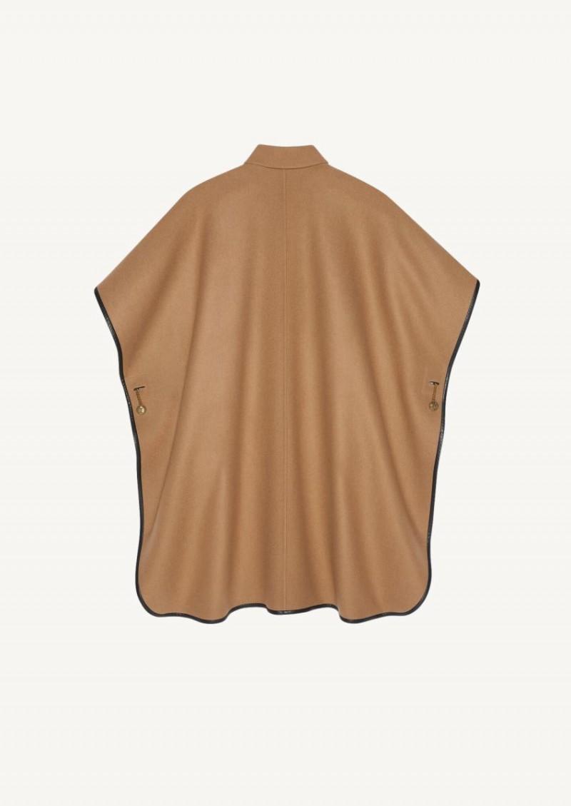 Camel cashmere cape