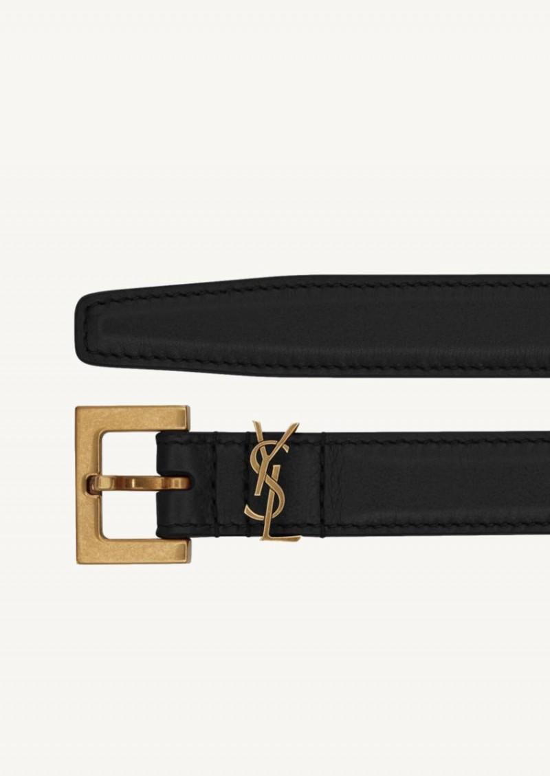 Black Monogram Belt