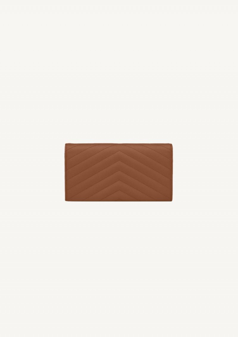 Grand portefeuille à rabat monogramme natural dark